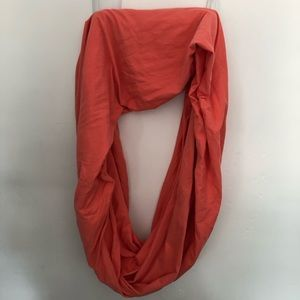 American Apparel Circle Scarf, Coral